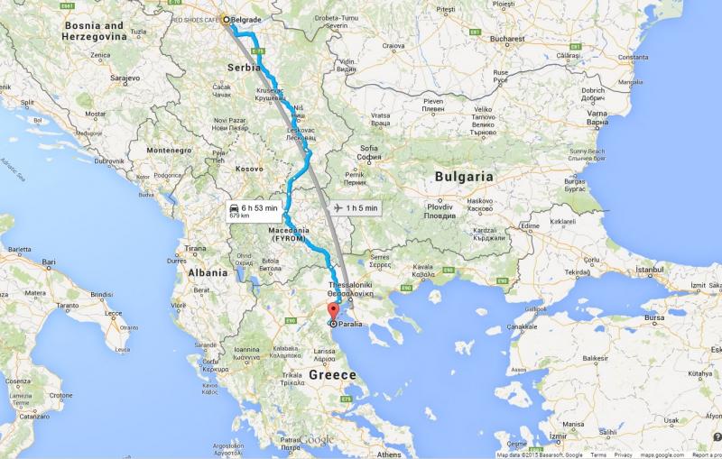 auto mapa srbija grcka Putovanje kolima u Grčku | TipoTravel auto mapa srbija grcka